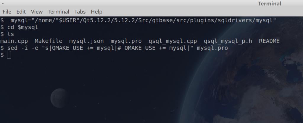 Compile driver mysql to qt5 for Gnu/Linux ubuntu, debian and